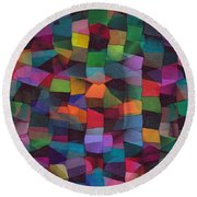 Treasures Round Beach Towel by Susan  Epps Oliver