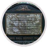 Treaty Oak 12 14 2015 023 Round Beach Towel