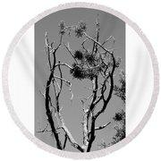 Tree Art Black And White 031015 Round Beach Towel