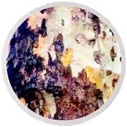 Tree Bark 2 Round Beach Towel