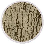 Tree Bark Texture Brown Round Beach Towel