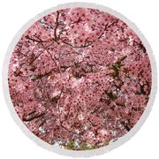 Tree Blossoms Pink Blossoms Art Prints Giclee Flower Landscape Artwork Round Beach Towel
