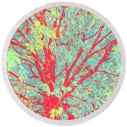 Tree Branches 8 Round Beach Towel