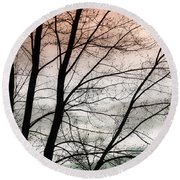 Tree Branches  Round Beach Towel