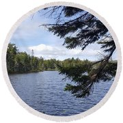 Tree By The Water Round Beach Towel