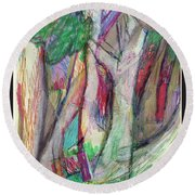Tree Collage Round Beach Towel