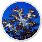 Tree Coral Round Beach Towel