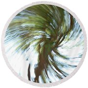 Tree Diptych 1 Round Beach Towel