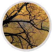 Tree Fantasy 7 Round Beach Towel