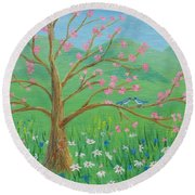 Tree For Two Round Beach Towel