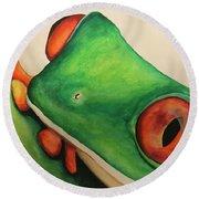 Tree Frog Round Beach Towel