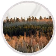 Tree Layer Cake Round Beach Towel