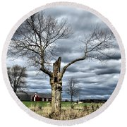 Tree Man Round Beach Towel