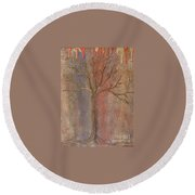 Tree - Metallic 1 Round Beach Towel