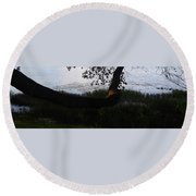 Tree Near The Water3 Round Beach Towel