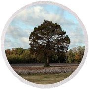 Tree No Fog Round Beach Towel