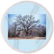 Tree Of Beauty Round Beach Towel