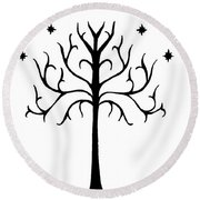 Tree Of Gondor Crest Round Beach Towel