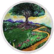 Tree Of Imagination Round Beach Towel