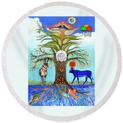 Tree Of Life #5 Round Beach Towel
