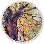 Tree Of Life And Wisdom   Round Beach Towel