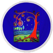 tree of life Manchester-by-the-sea Round Beach Towel