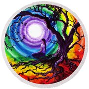 Tree Of Life Meditation Round Beach Towel