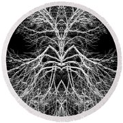 Tree Of Nature Evolving Symmetry Pattern Round Beach Towel