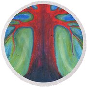 Tree Of Quiet Round Beach Towel