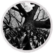 Tree Of Thorns B Round Beach Towel