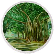Tree Old Guy Round Beach Towel