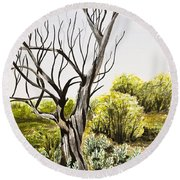 Tree Painting Round Beach Towel