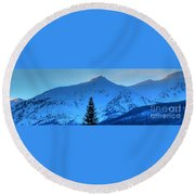 Tree Pano Round Beach Towel
