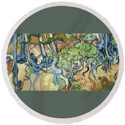 Tree-roots Round Beach Towel