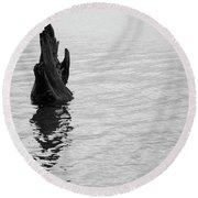 Tree Reflections, Rest In The Water Round Beach Towel