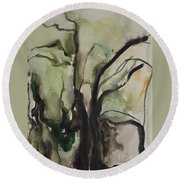 Tree Series V Round Beach Towel