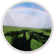 Tree Shadow Round Beach Towel