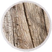 Tree Texture 4 Round Beach Towel