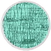 Tree Texture Turquoise Round Beach Towel