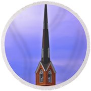 Tree Top Steeple Round Beach Towel