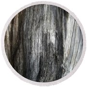 Tree Trunk Abstract Detail Round Beach Towel