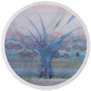 Tree With Balls Four Round Beach Towel