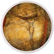 Tree Within A Tree Round Beach Towel