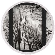 Treeology Round Beach Towel