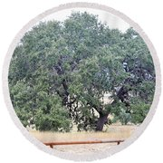 Trees 006 Round Beach Towel