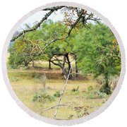 Trees 013 Round Beach Towel