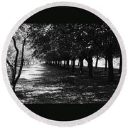Trees In Chicago Round Beach Towel