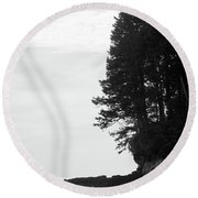 Trees Over The Ocean Round Beach Towel