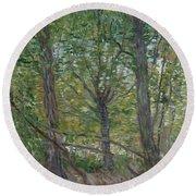 Trees Paris, July 1887 Vincent Van Gogh 1853  1890 Round Beach Towel