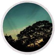 Trees - San Salvador V Round Beach Towel